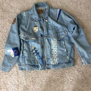 Heavy weight, Custom  embellished Jean jacket